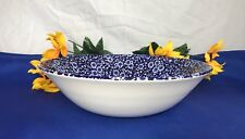 Queen's CALICO BLUE ENGLAND Large Vegetable Serving Bowl 9 1/4""