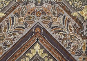 5.75 Yds Jay Yang Esfahan Taupe Linen Blend Brown Gray  Drapery Upholstery