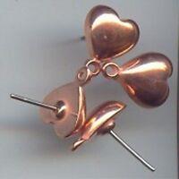 6 PAIR VINTAGE STEEL RIBBON BOW 13x15mm METAL PIERCED STUD EARRINGS N21