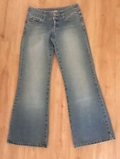 Ladies Vintage 90's Blue Jeans Flares Size 10 JUST JEANS Hippy Denim