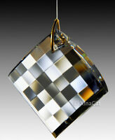 Checkerboard 40mm Prism Faceted Austrian Crystal Clear SunCatcher 1-1/2 inch