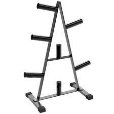"""2"""" Olympic Weight Plate Storage Rack Bumper 7 Post Gym Disc Stand Tree Holder"""