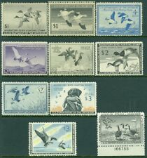 EDW1949SELL : USA 1945-63 Beautiful collection 10 DIFF VFMOGLH between RW12-30