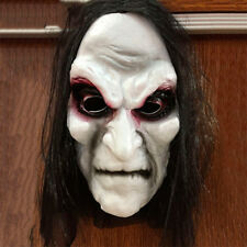 Halloween Scary Evil Black Long Hair Full Face Mask Dress Party Costume Cosplay