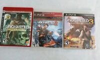 Uncharted Trilogy 1, 2 & 3 (Sony PlayStation 3, PS3) Nathan Drake Lot FREE S/H