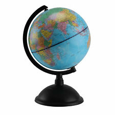 Rotating Earth Globe World Map Swivel Stand Geography Educational Toy 20 cm
