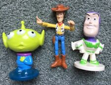 "Kellogg's Disney Toy Story 3"" Buzz Lightyear & Alien Bobblehead + Woody Lot Of 3"