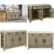 New listing Osp Home Furnishings Cocina Kitchen Island With Spice Rack And Wood Top