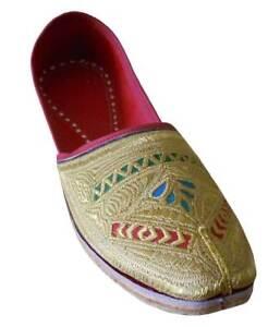 Men Shoes Traditional Handmade Wedding Jutties Leather Indian Mojaries US 8-11