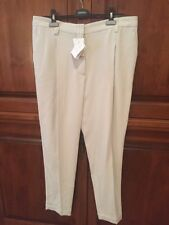 NWT BRUNELLO Cucinelli Light Taupe Wool-blend Crepe Tapered Cropped Pants 46/10