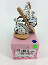 Josmo Girls' Genesis Flat Sandal, Silver, 8 Medium US Toddler