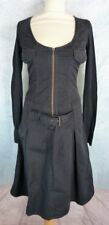 IKKS Robe Taille 36 Fr - Noire - Manches longues - Stretch