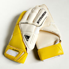 Adidas Performance Fingersave Soccer Goalie Gloves - White/Solar Yellow -Size 12