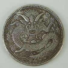 Tibetan silver China Qing empire King Guangxu Kashgar city dragon coin 1 dollar