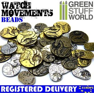 16x Watch MOVEMENTS beads 85gr. Steampunk mechanisms - Jewellery Making Scratch