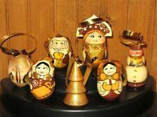 Décorations de Noël et sapins dorés-Fait main-pour la maison