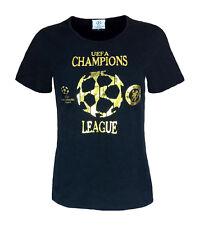 Para mujer Talla 12 Chelsea FC de la Liga de Campeones de Camiseta Top Fútbol Balonpié Negro Wo