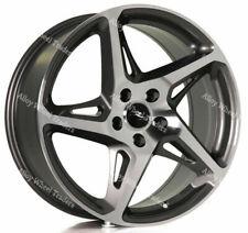 """Alloy Wheels 18"""" R4 For Audi A3 S3 A4 S4 Cabriolet B5 B6 B7 B8 B9 5x112 Grey"""