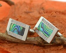 Steel Abalone Cuff Links,Men's Jewelry,Dad,Birthday,Husband,Shirt,Shell,Tie,Gift
