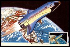 S.TOME MK 1979 LUFTFAHRT AVIATION WELTRAUM SPACE SHUTTLE MAXIMUMKARTE MC /m847
