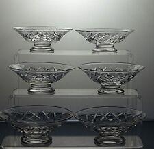 Stuart Crystal Cut Glass Finger Bowls Set Of 6 - Signed