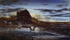 "Terry Redlin "" Morning Chores"" Lake Duck Art Print With COA 24"" x 14"""