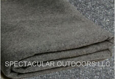 WOOL Camping Emergency Survival BLANKET Large Military Heavy Gray