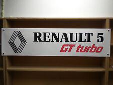 RENAULT 5 Bannière GT Turbo Atelier Garage PVC display Bannière