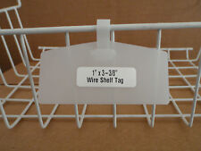 "1"" x 3-3/8"" One-Piece Wire Shelf Tag - Clear- BULK Pack of 100 Pieces!"