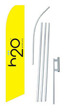 H2O Wireless Banner Flag Sign Display Complete Kit Tall Business Advertising 2.5