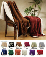 "50""*60"" Winter Warm Ultra Soft Cuddly Sherpa Reversible Throw Blanket"