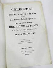 RARE : HISTORIA ANTIGUA Y MODERNA DE LAS PROVINCIAS DEL RIO DE LA PLATA - 1836