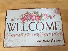 Welcome To My Home retro workshop man cave vintage metal sign garage plaque