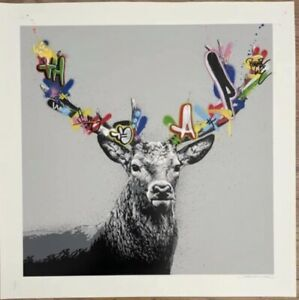 Martin Whatson - The Stag - Hand Finished  Art Print Comes With COA