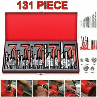 131Pcs Helicoil Thread Repair Kit M5 M6 M8 M10 M12 Threaded Tool Twist Drill Bit