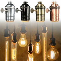E27 Vintage Industrial Lamp Light Bulb Holder Antique Retro Edison Screw Fitting
