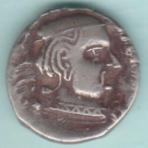 ANCIENT INDIA WESTERN KSHATRAPAS SILVER DRACHM RARE COIN