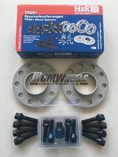 2 x 10mm H&R Silver Alloy Wheel Spacers Black Bolts Locks - BMW E60 E61 E62 E63