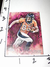 2014 Topps INCEPTION Wes WELKER #69 Magenta SP/75 Denver BRONCOS - Texas Tech