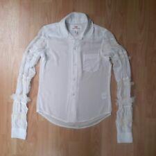H&M Comme des Garçons - White Frill Sleeve Shirt - EU34 UK6 - V. Good Condition