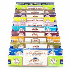 Genuine Indian Satya Nag Champa Incense Sticks Joss 15G Mixed Home Scents Gift