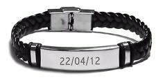 Birth Date Engraved Bracelet - Personalized Gift Ideas Christmas Gifts For Him
