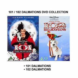 101 AND 102 DALMATIONS DVD 2 MOVIE FILM DISNEY LIVE ACTION Glenn Close Brand New
