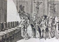 Marie Antoinette et Louis 17 1790 Hôpital des Enfants Trouvés Paris Louis 16