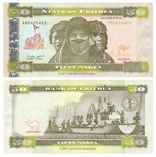 Eritrea 50 Nakfa 2011 P-9 Banknotes UNC
