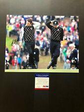 Rory McIlroy & Graeme McDowell signed autographed 11x14 photo PSA/DNA cert coa