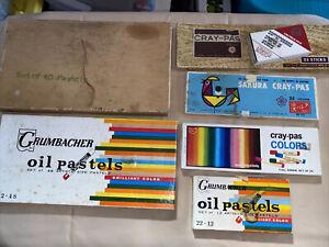 Mixed Lot Vintage Artist Pastels cray-pas & Grumbacher