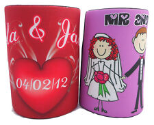 50x PERSONALISED WEDDING STUBBY COOLER/ holder, favors, Bomboniere, guest gift