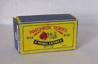 Repro Box Matchbox 1:75 Nr.28 Compressor Lorry älter
