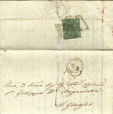 892-STATO PONTIFICIO, 1 BAJ  DA MACERATA A S. GINESIO, 1856